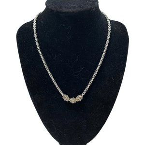 Jewelry - Thick silver tone chain with beads